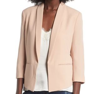 Mural Nordstrom Blazer Open Shawl 3/4 Medium Nude